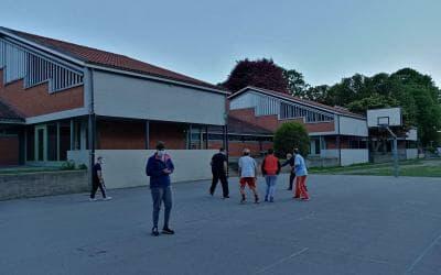 Allenamento di basket 2021 alle scuole medie 1 a Bellinzona